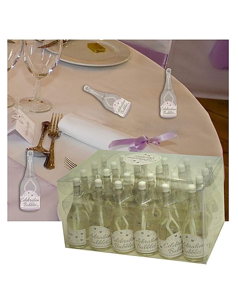 Image of Bubbles Favors Clear Bottle White Wand