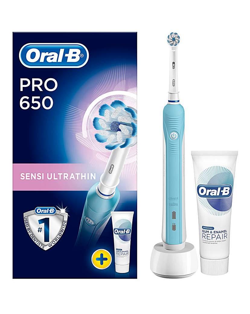 OralB Pro650 Sensi UltraThin Toothbrush