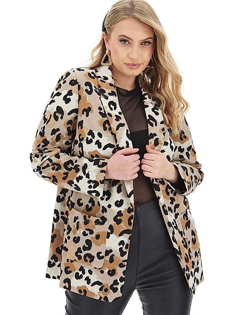 Capsule Leopard Printed Throw On Blazer