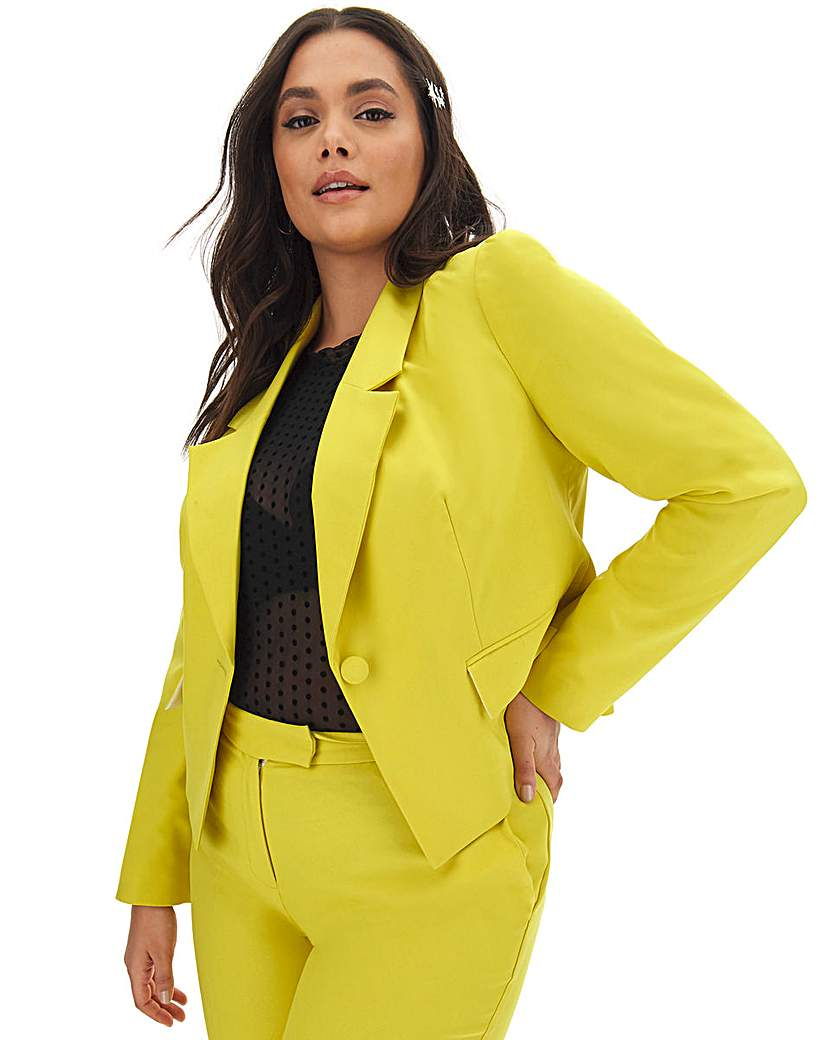 Capsule Mix & Match Lime Cropped Blazer