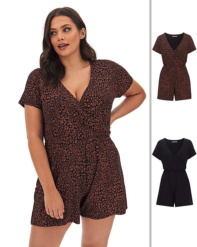 Capsule 2 Pack Wrap Playsuits