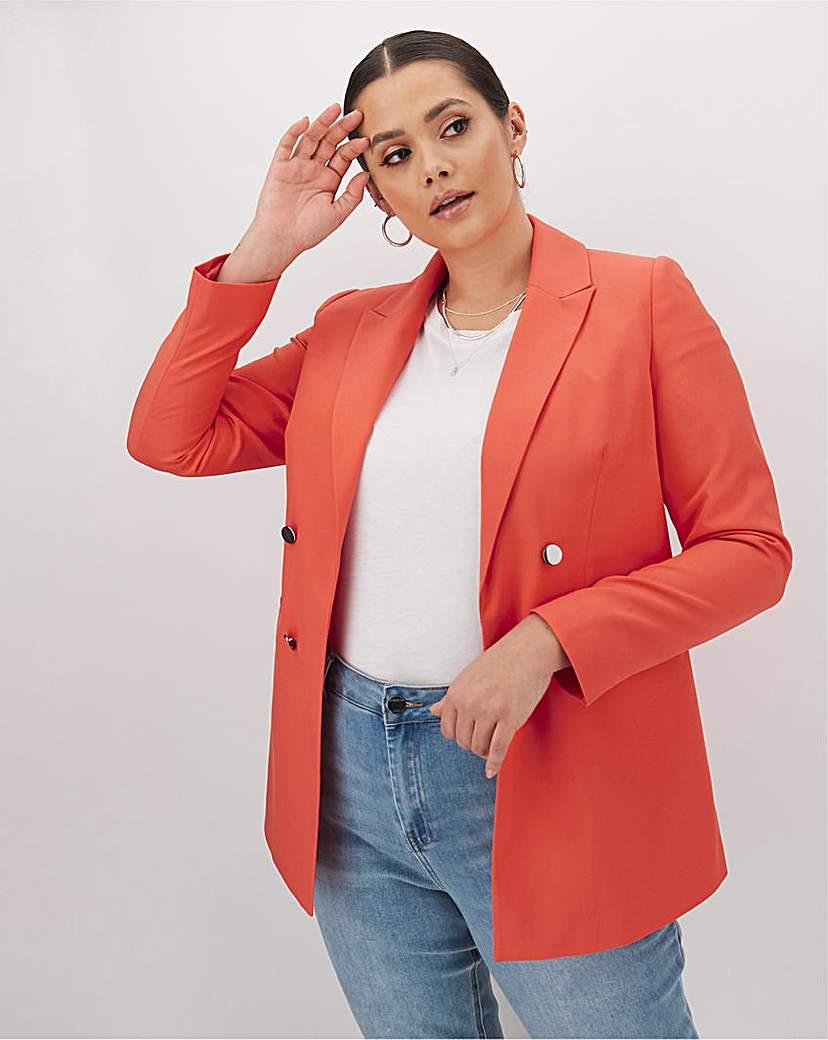 Capsule Mix & Match Coral Fashion Blazer