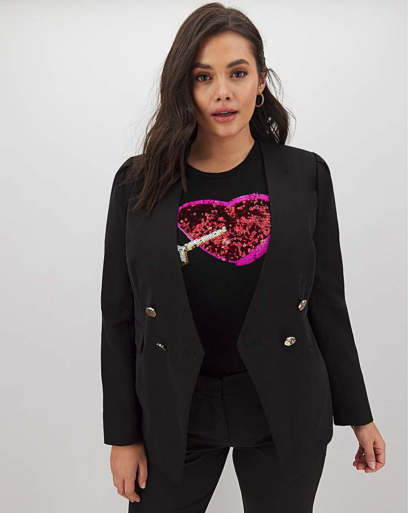 Capsule Black Double Breasted Trophy Blazer