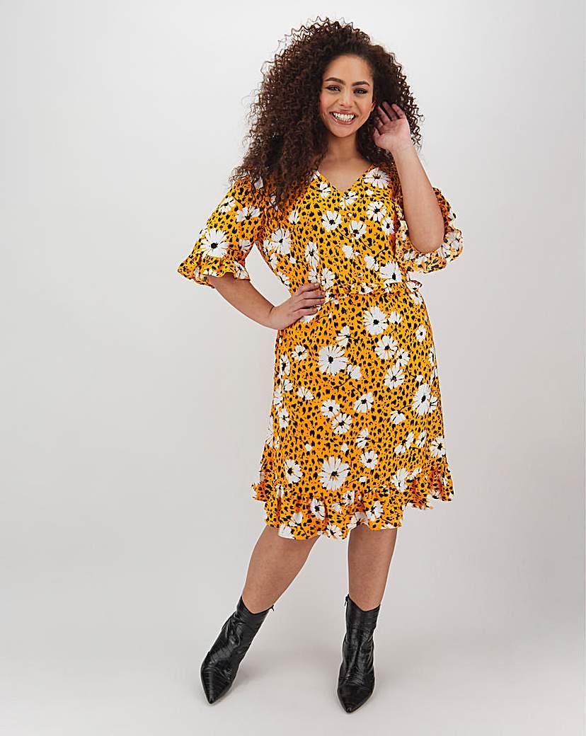 Capsule Yellow Floral Tea Dress