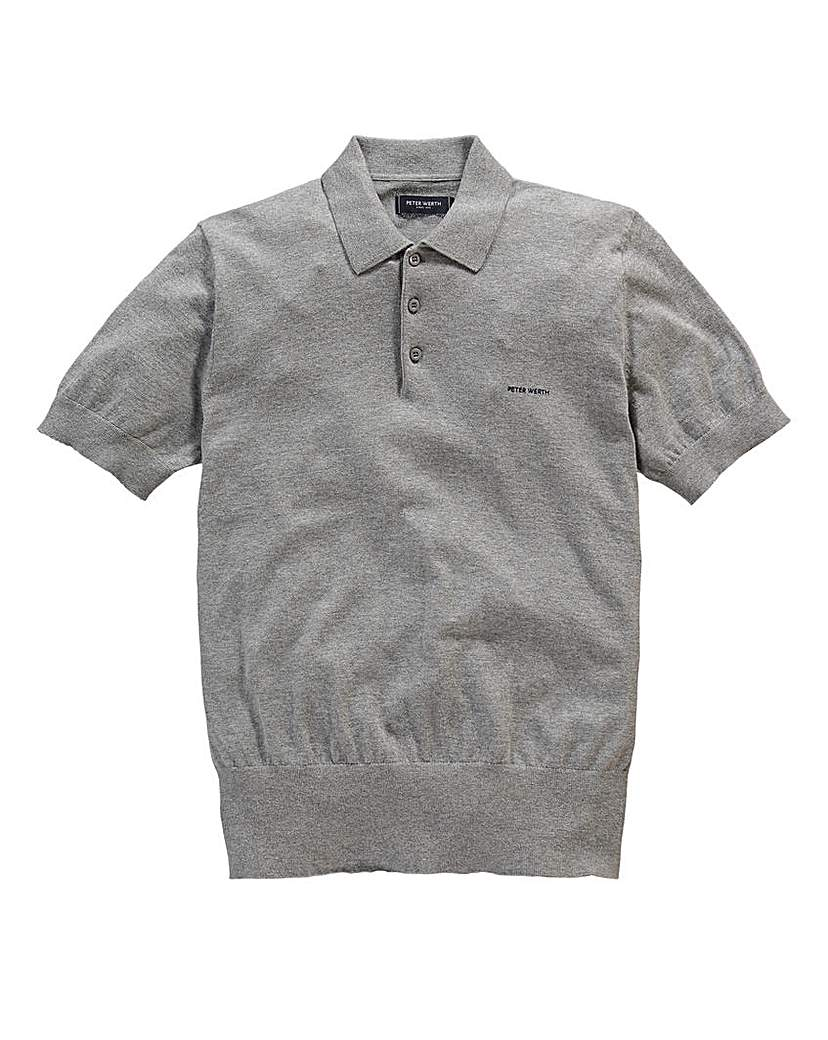 1940s Style Mens Clothing Peter Werth Short Sleeve Knitted Polo £34.50 AT vintagedancer.com