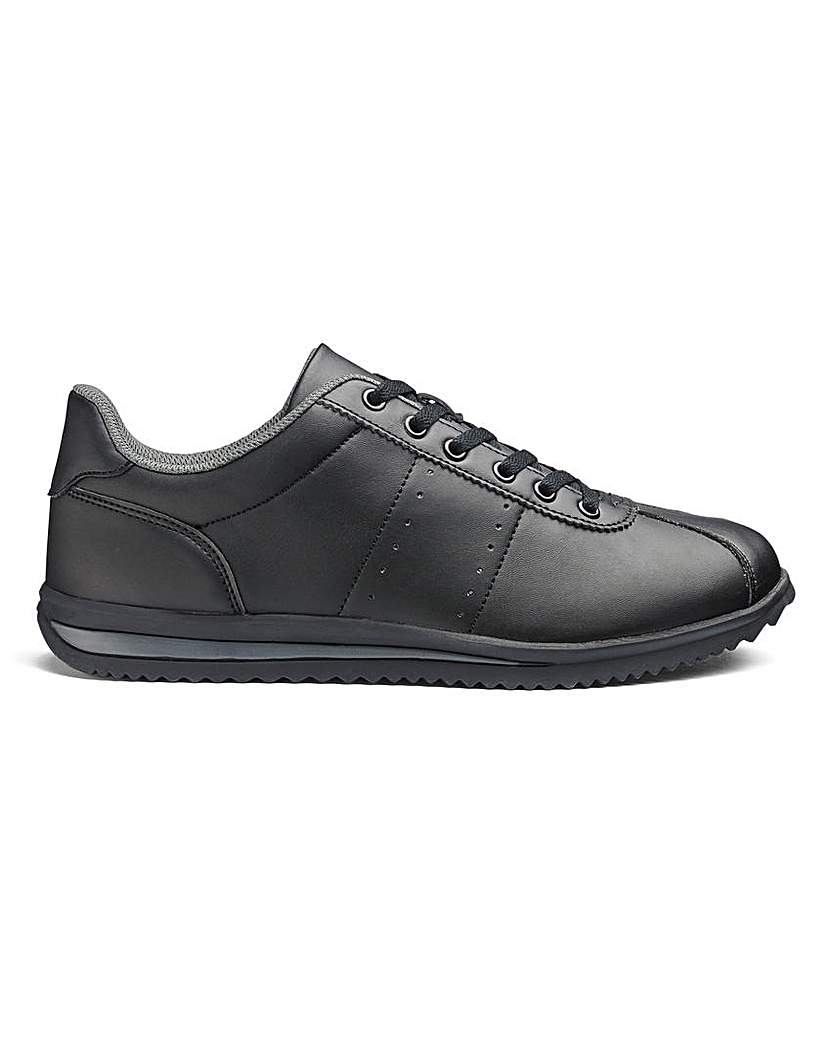 Cushion Walk Lace Up Trainers Wide Fit