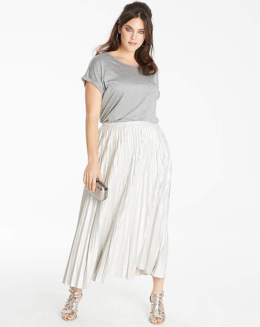 Joanna Hope Joanna Hope Metallic Pleated Skirt