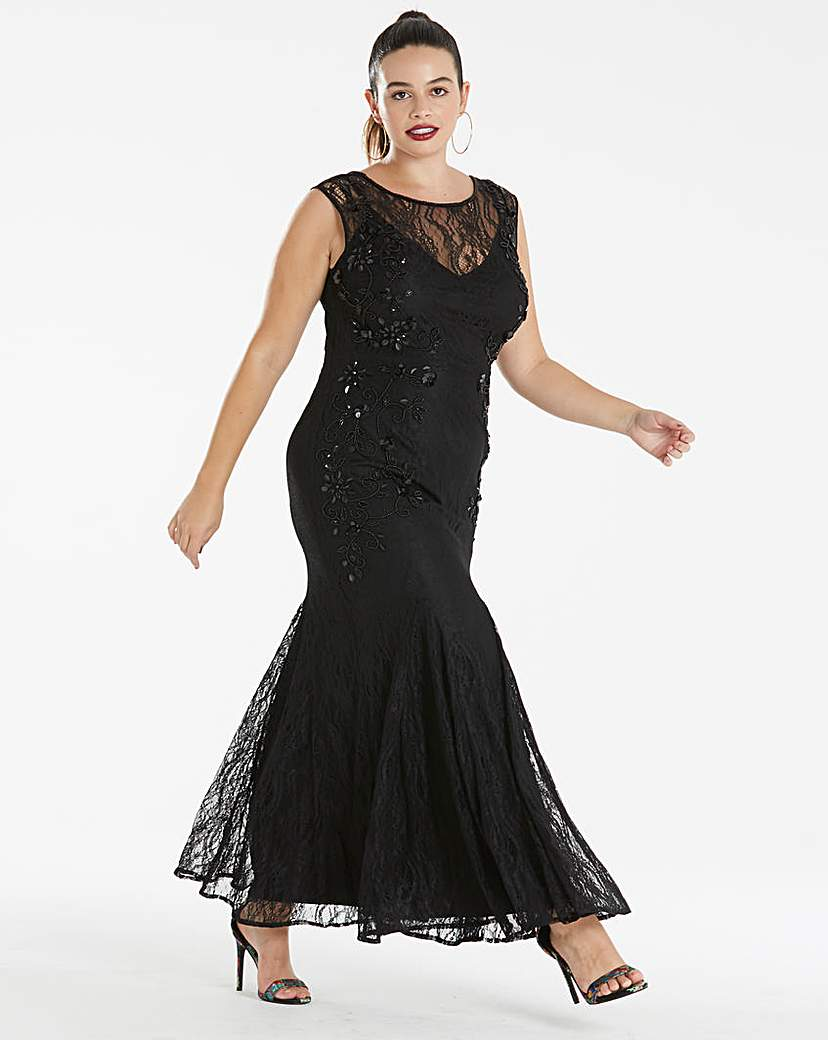 Joanna Hope Joanna Hope Lace Bead Detail Dress