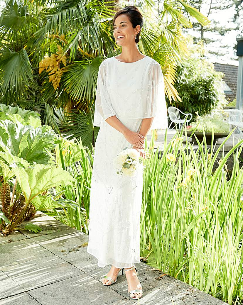 Vintage Inspired Wedding Dresses JOANNA HOPE Embellished Maxi Dress £195.00 AT vintagedancer.com