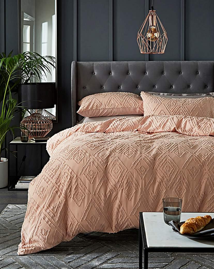 At Home Luxe Nea Cotton Tufted Jacquard Duvet Set