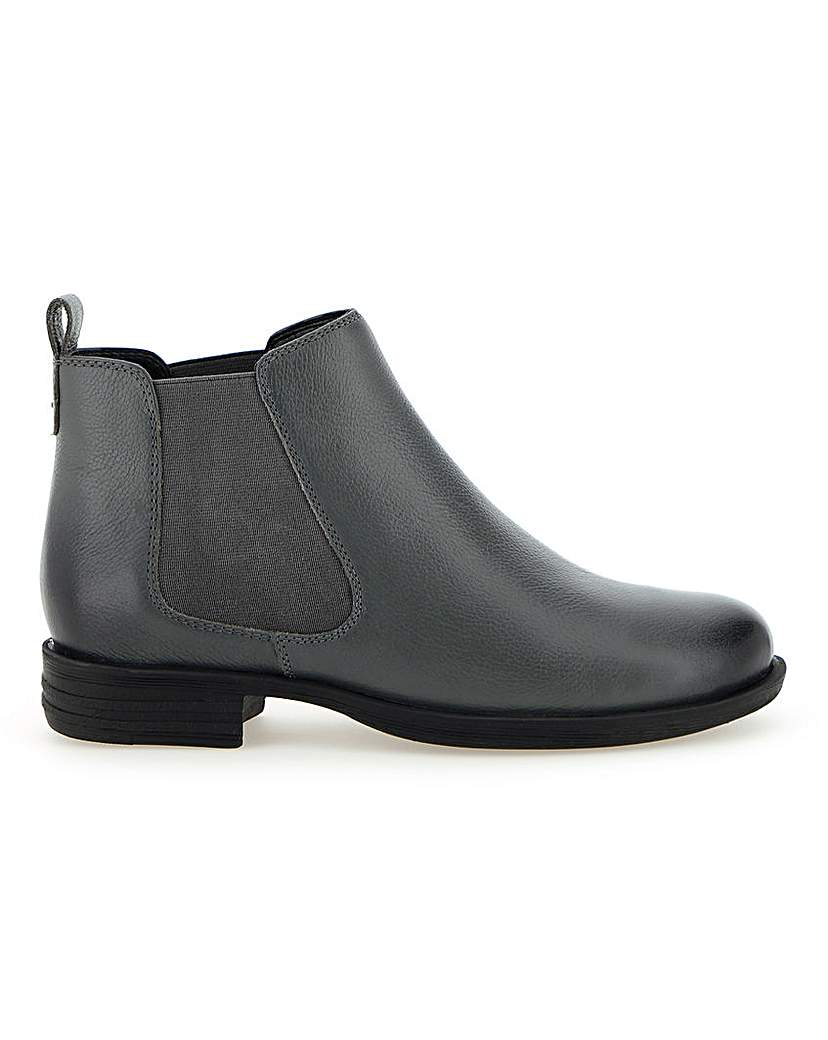 JD Williams Leather Chelsea Ankle Boots E Fit