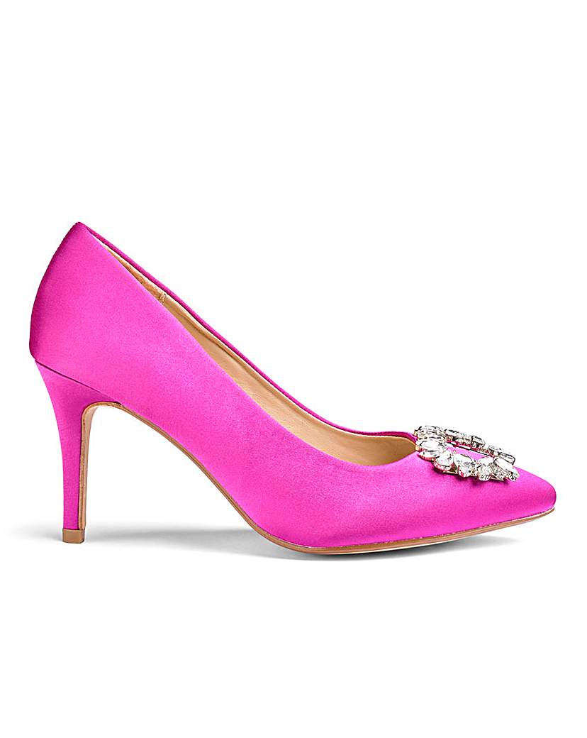Satin Occasion Shoes E Fit