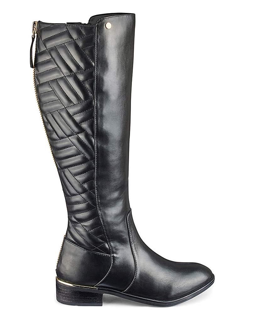 JD Williams Quilt Detail Boots EEE Fit Standard Calf