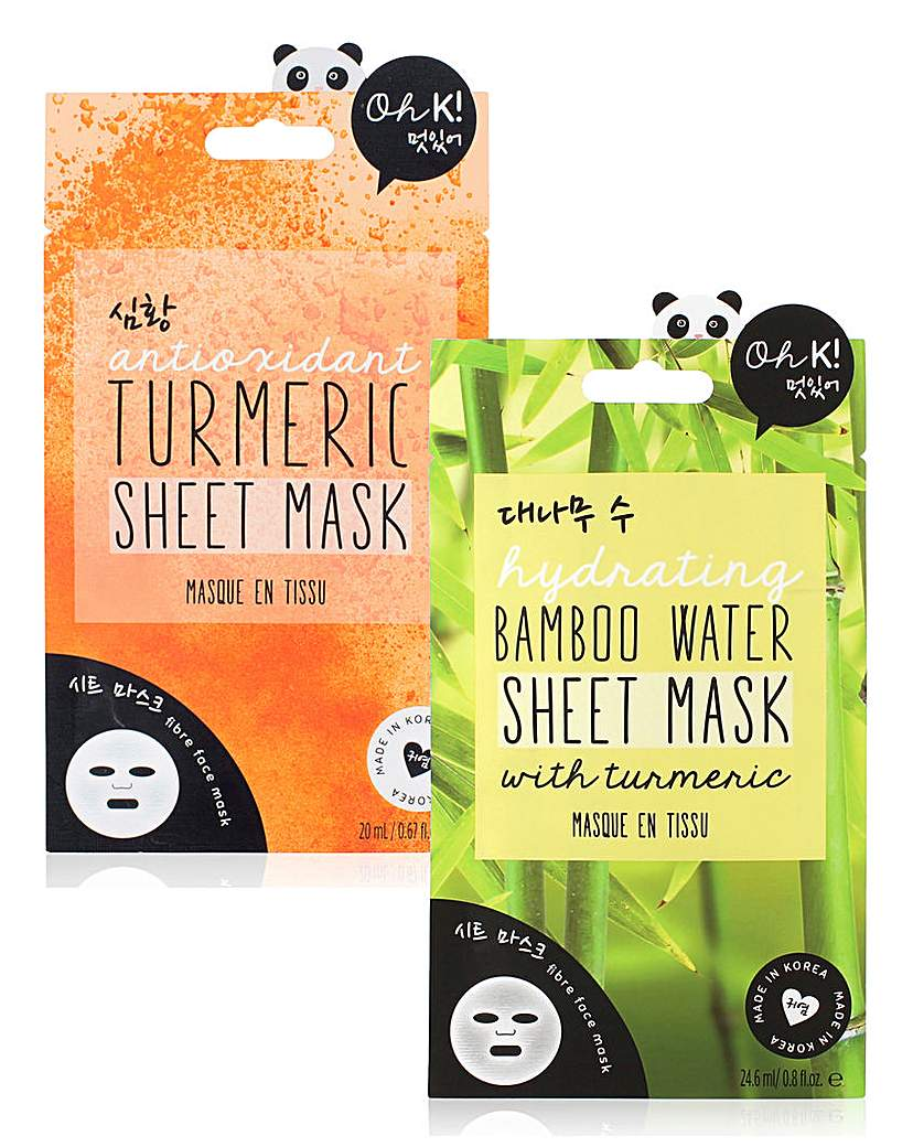 Oh K! Oh K! Bamboo Water & Turmeric Mask Set
