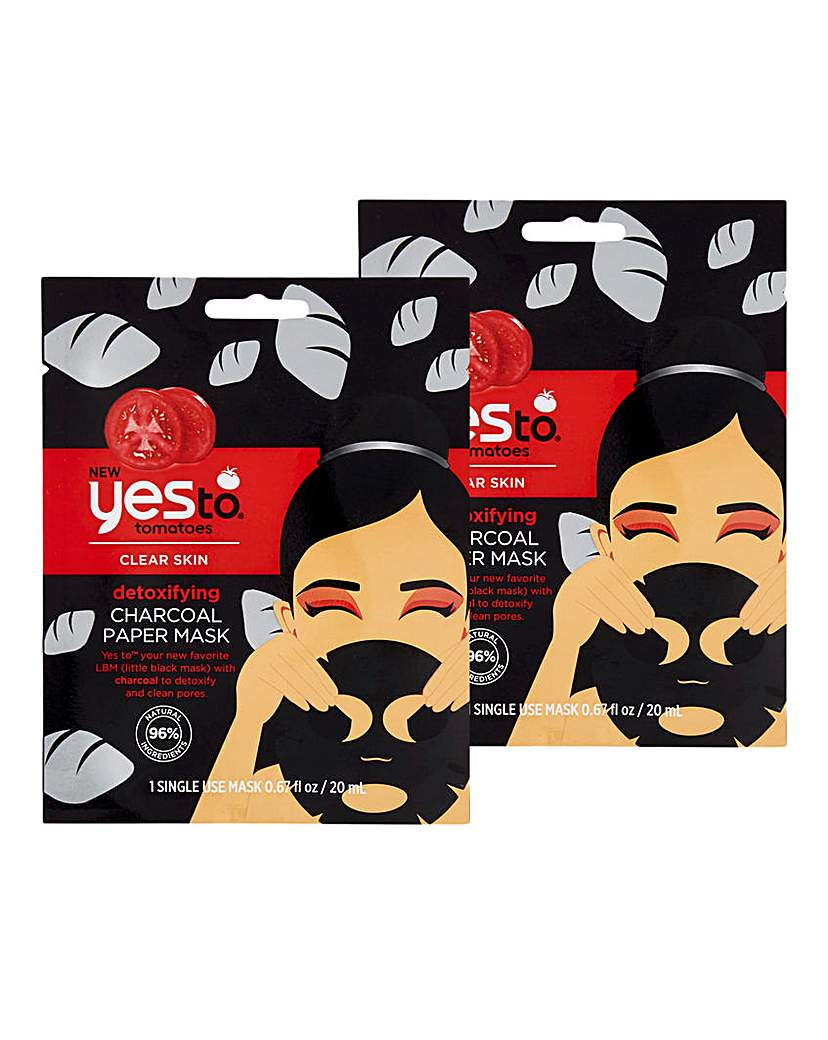 Yes To Yes To Tomatoes Charcoal Paper Mask x 2