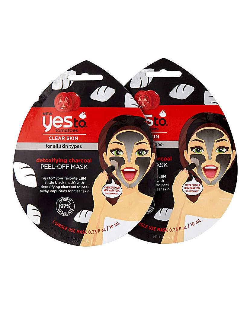 Yes To Yes To Charcoal Peel-Off Mask x2