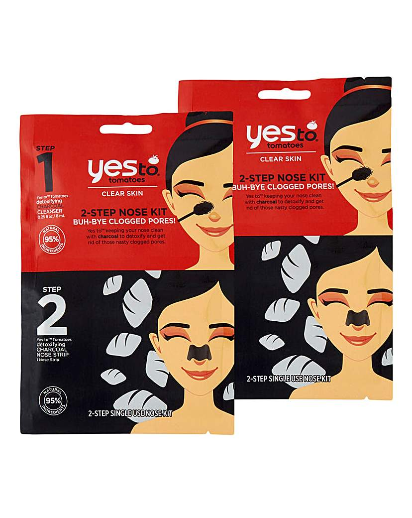 Yes To Yes To Charcoal Nose Kit x2