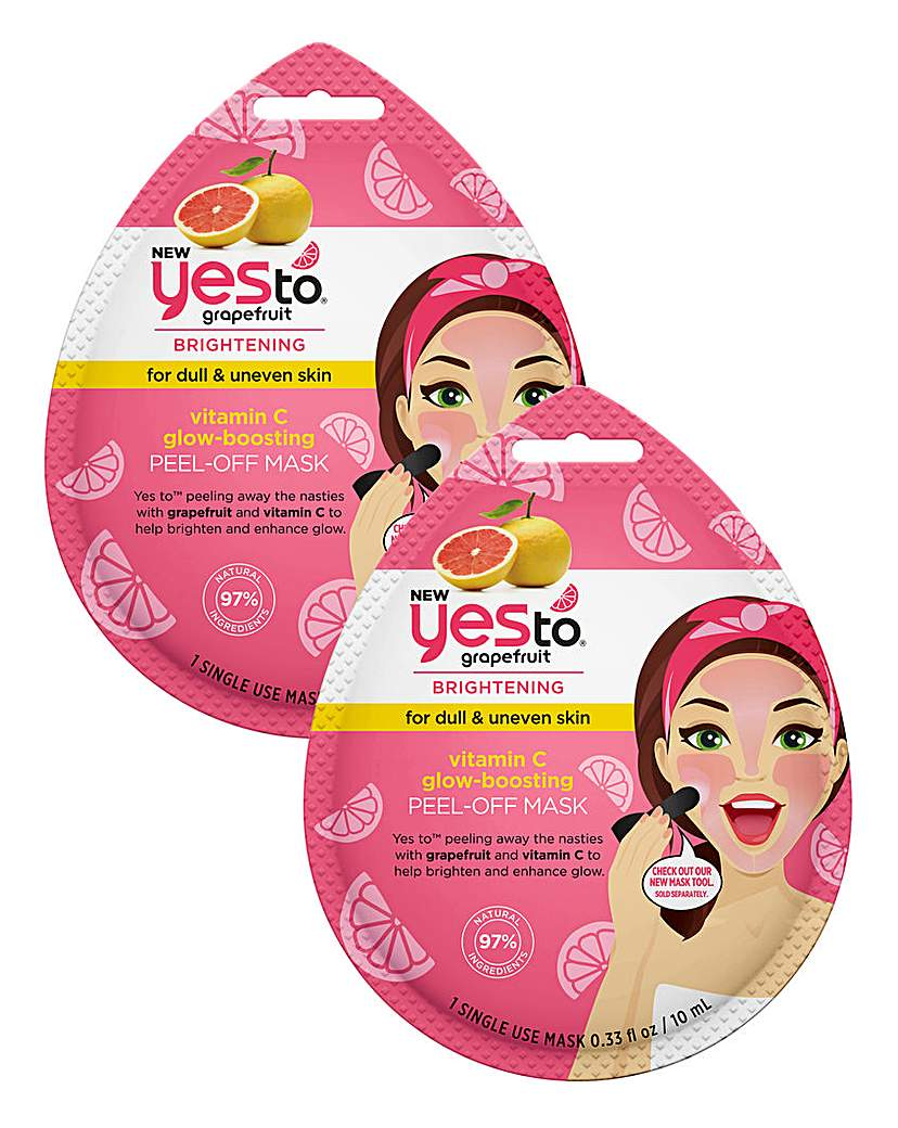 Yes To Yes To Grapefruit Peel-Off Mask x 2