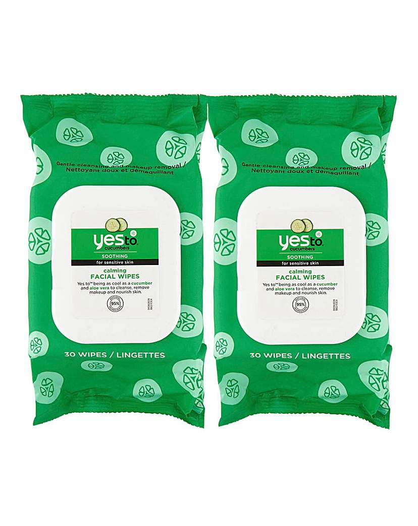 Yes To Yes To Cucumbers Facial Wipes x 2