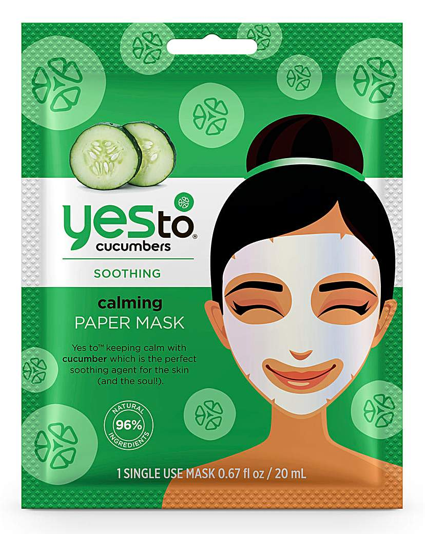 Yes To Yes To Cucumbers Paper Mask x2