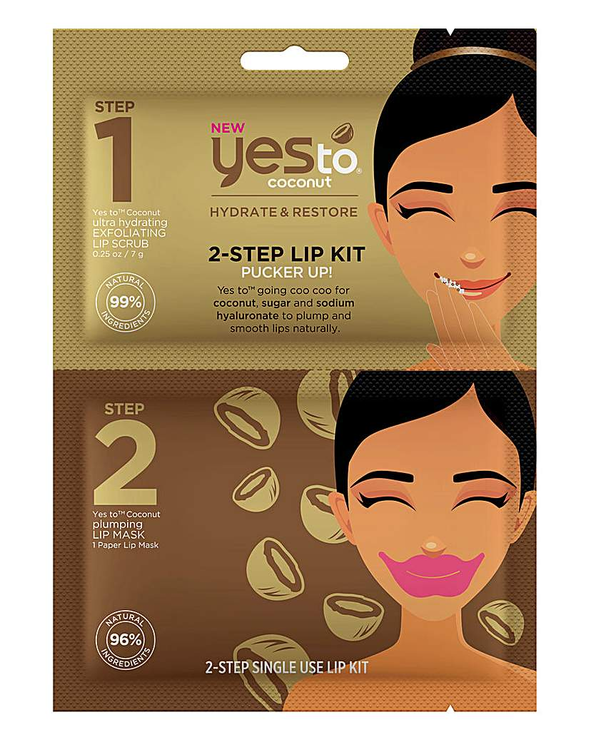 Yes To Yes To Coconut 2-Step Lip Kit