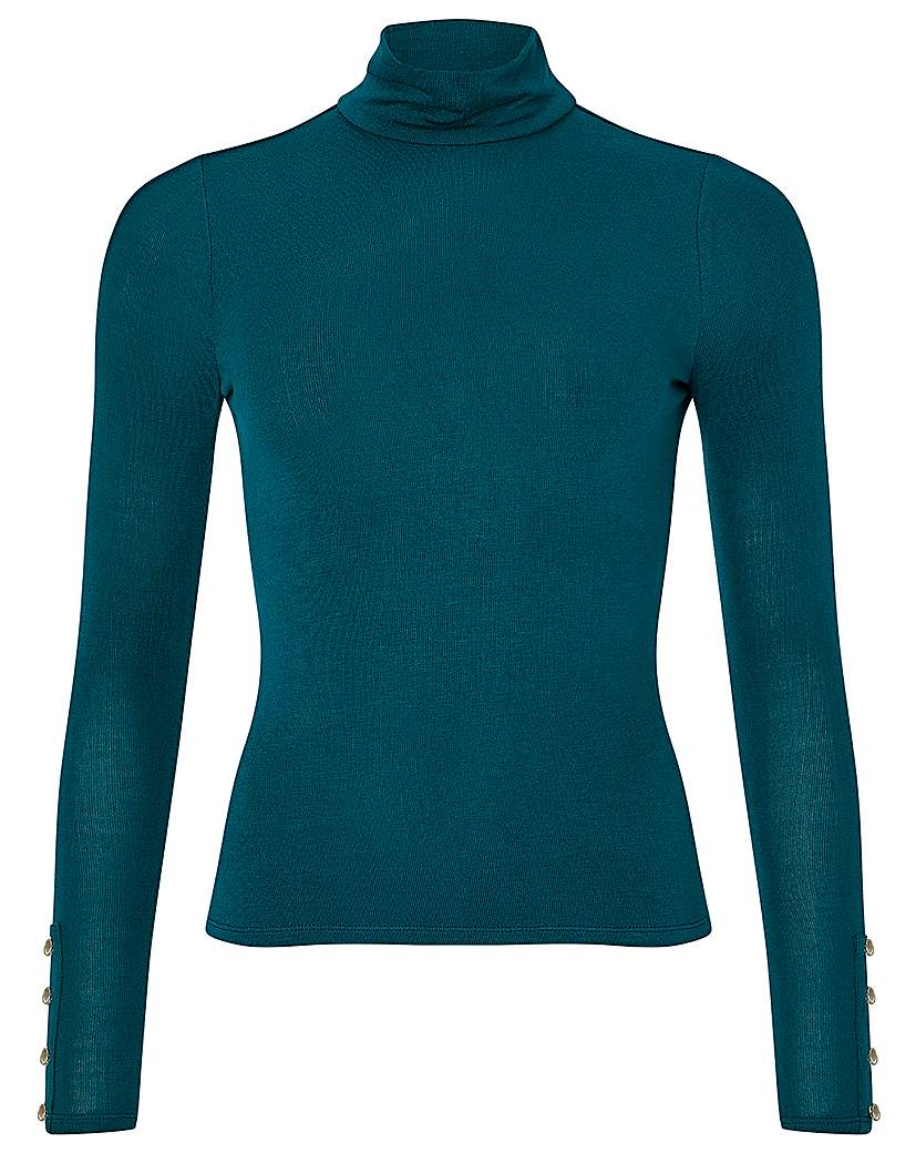 Monsoon Pammy Polo Neck Jersey Top
