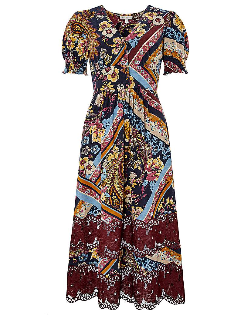 1960s Style Dresses, Clothing, Shoes UK Monsoon Ruby Lace Jersey Midi Dress £65.00 AT vintagedancer.com