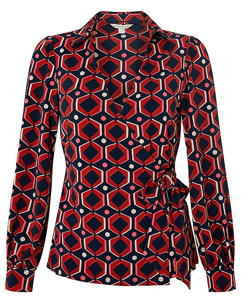 1960s Style Dresses, Clothing, Shoes UK Monsoon Kelsie Geo Print Jersey Shirt £39.00 AT vintagedancer.com