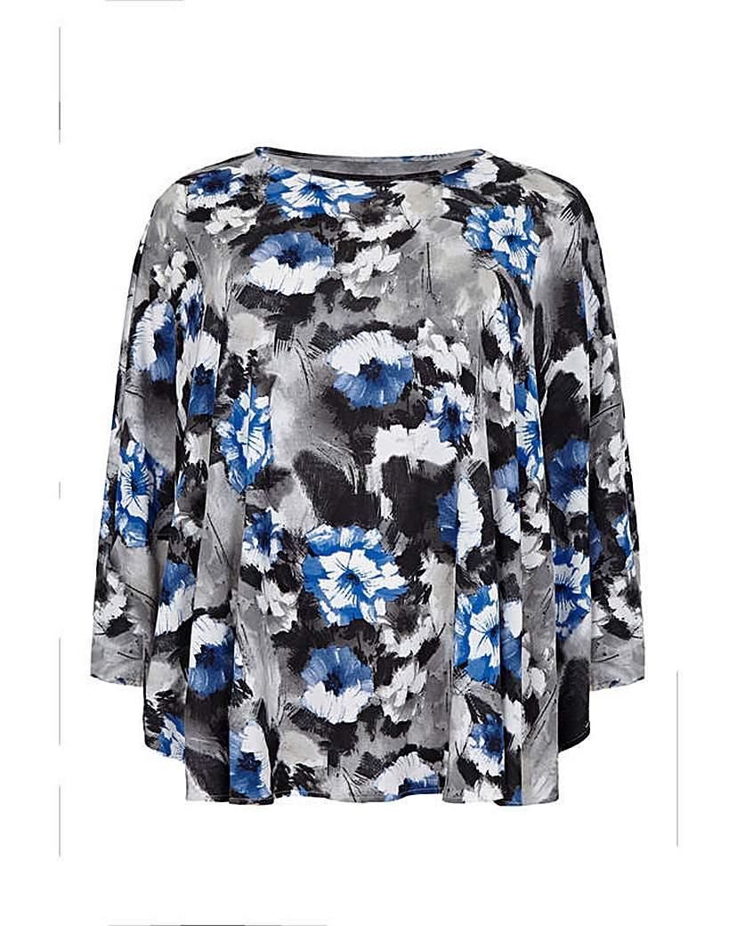Mela London Curve Floral Printed Top