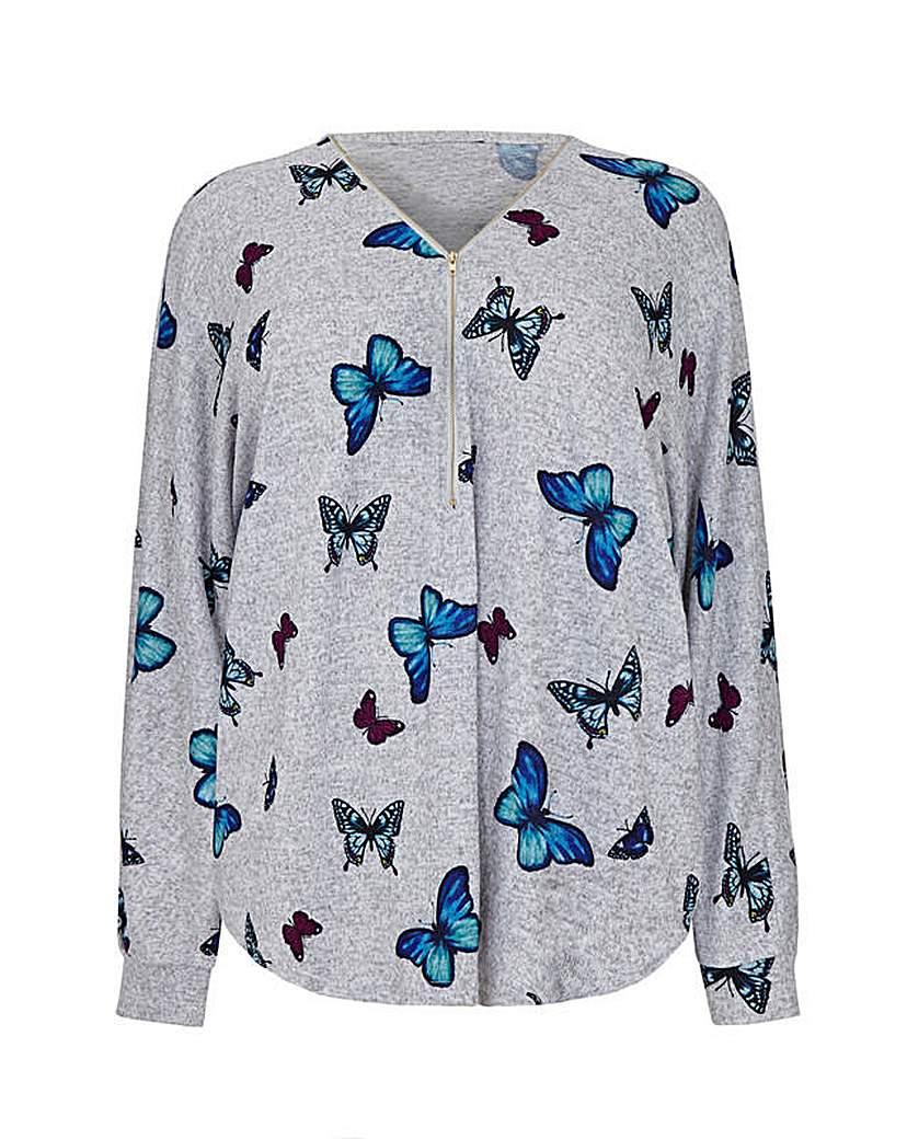 Mela London Curve Butterfly Zip Front Ju