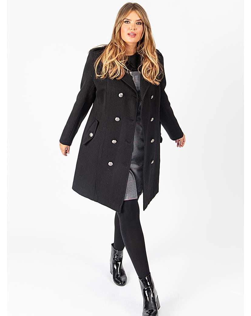 Lovedrobe GB Black Double Breasted Coat