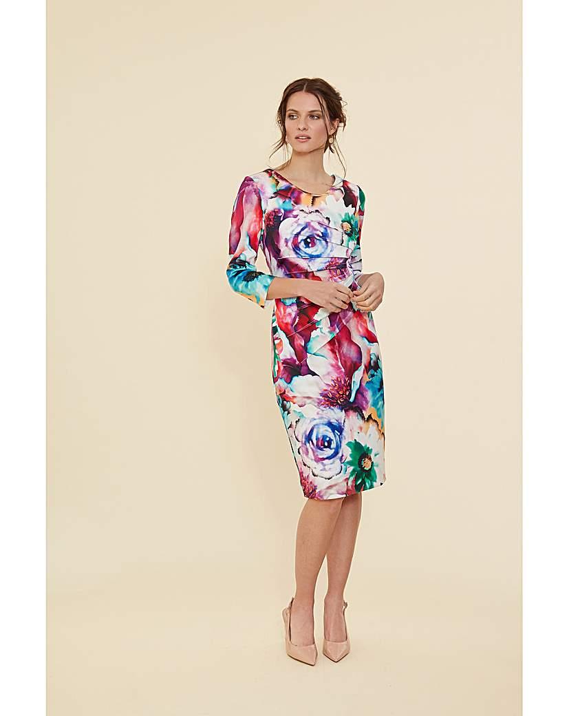 Gina Bacconi Lareina Floral Scuba Dress