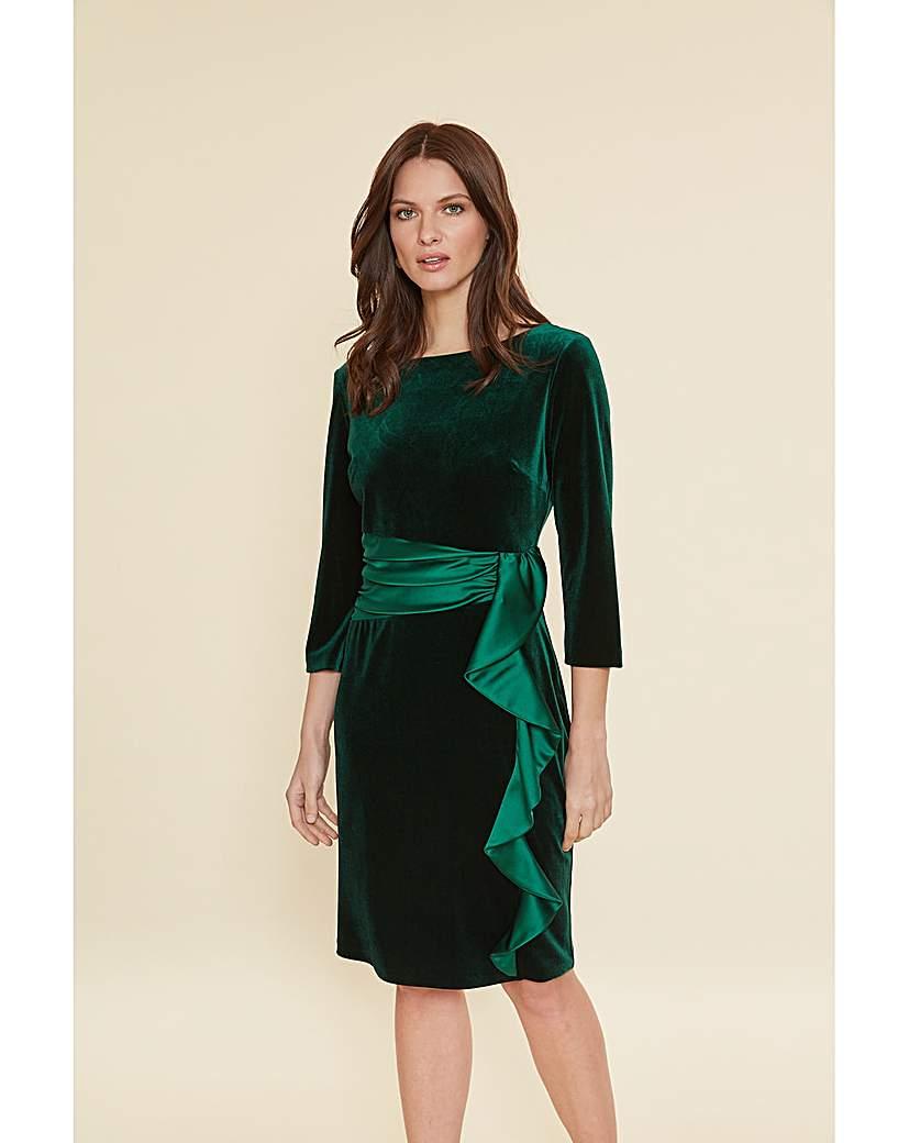 Gina Bacconi Halen Stretch Velvet Dress
