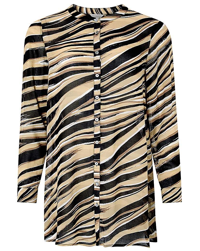 Monsoon Lexi Print Longline Shirt