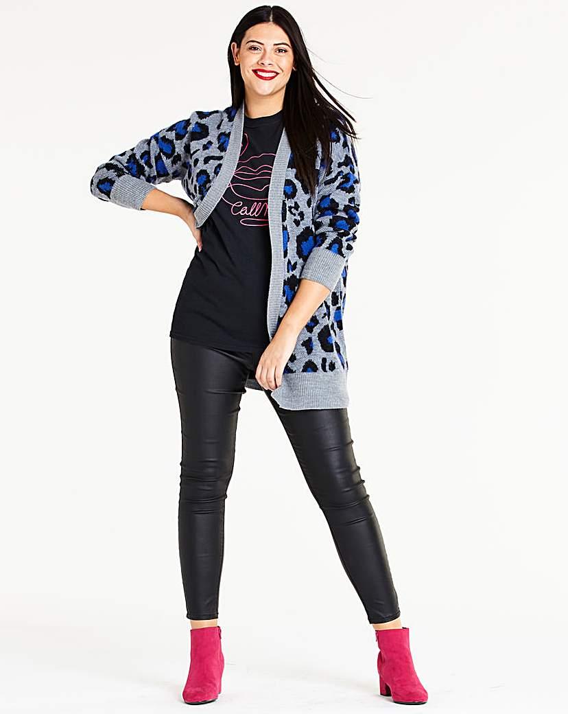 Blue Leopard Cardigan