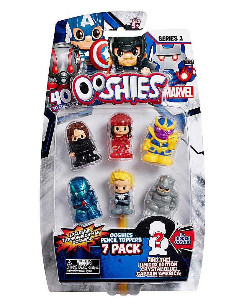 Image of Ooshies Marvel 7 Pack