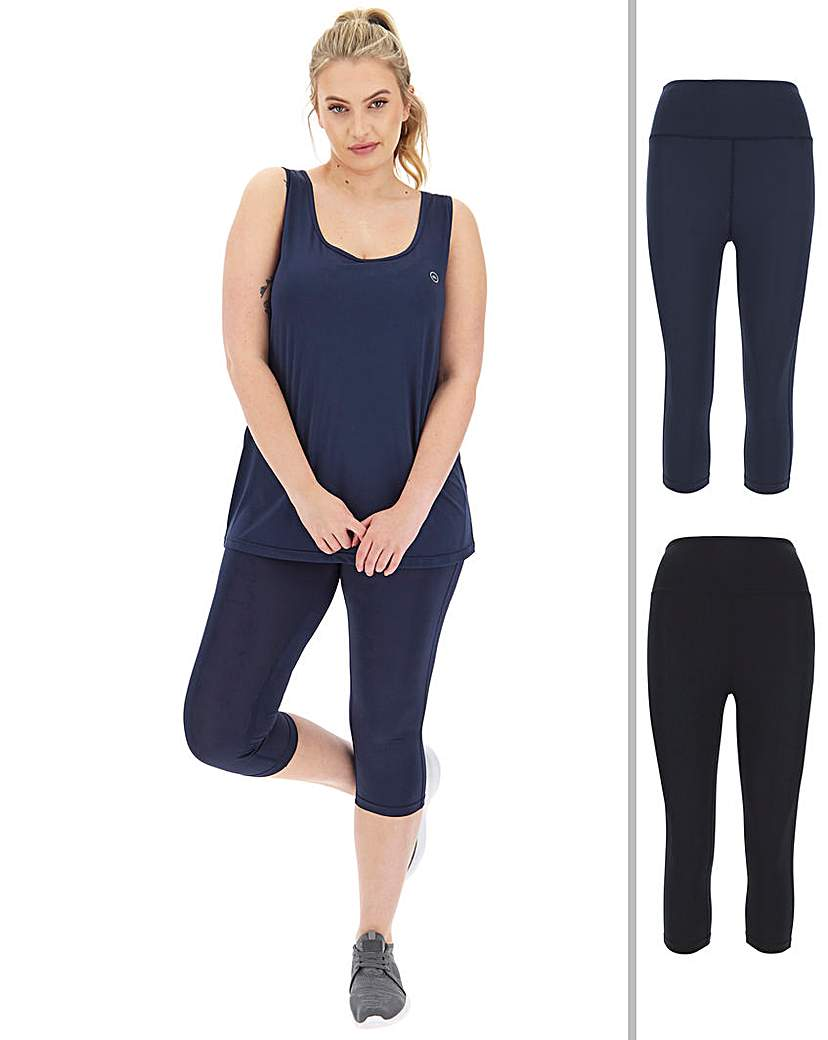 Simply Be Simply Be Active Basic 2 Pack Gym Capri