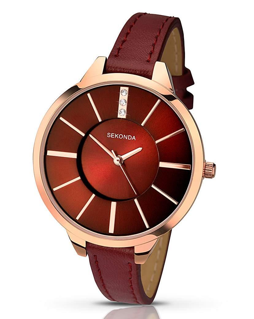 Image of            Sekonda Ladies Red Watch