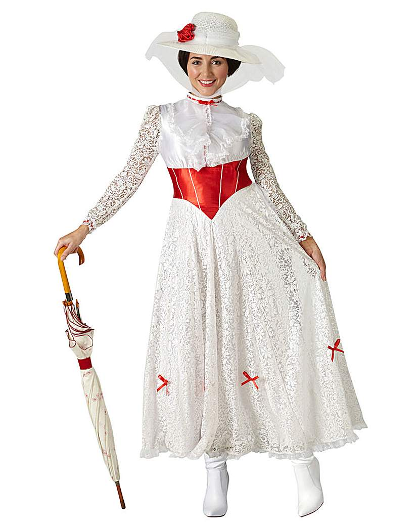 1900s, 1910s, WW1, Titanic Costumes Adult Mary Poppins Jolly Holiday Costume £49.00 AT vintagedancer.com