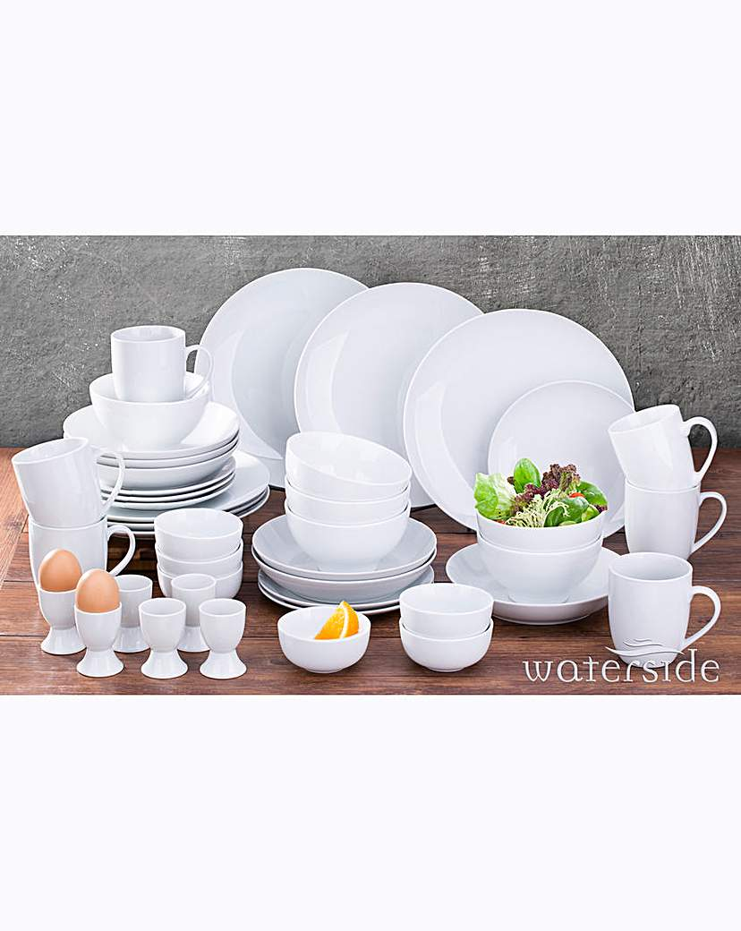 Image of 42 Piece Simply White Round Dinner Set