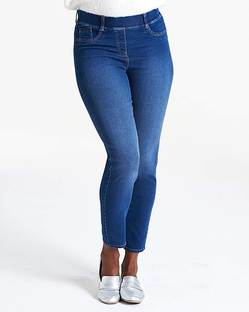 Mid Blue Bella Pull-On Slim Leg Jeggings