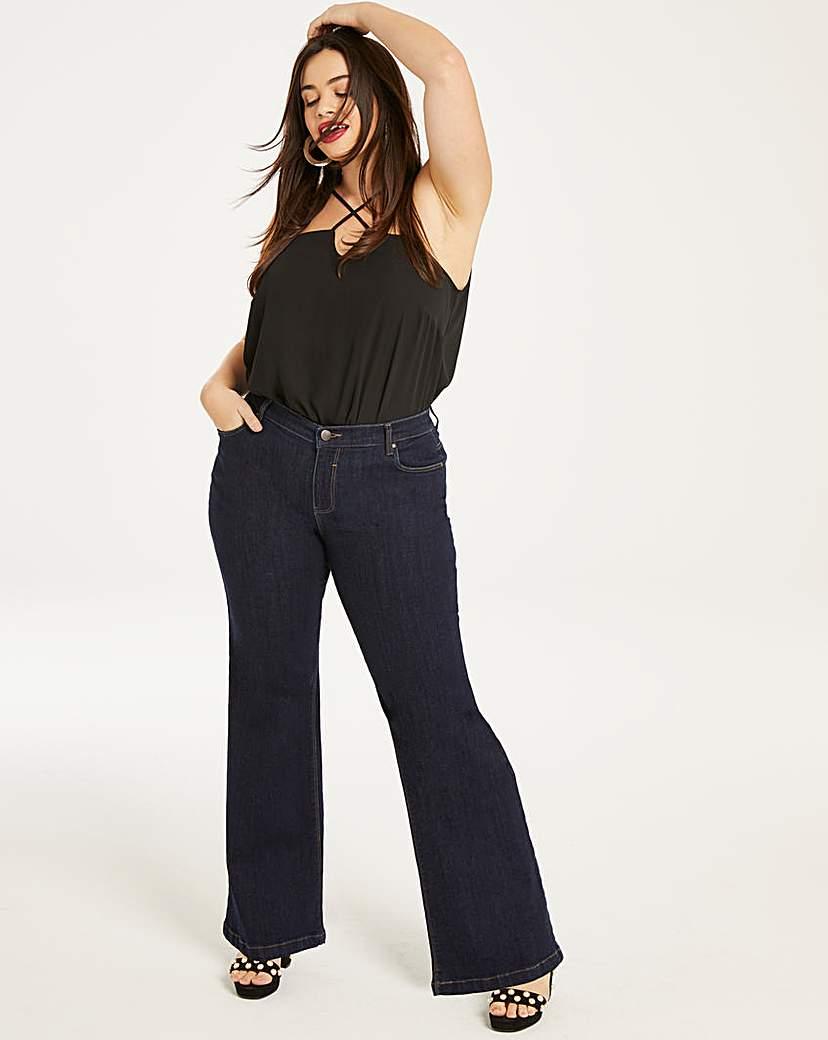 Simply Be Petite Indigo Wide Leg Jeans