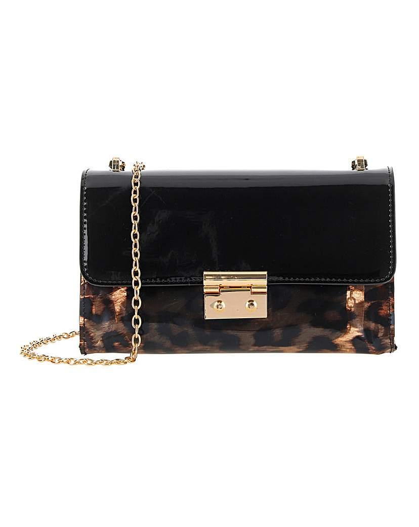 24674187551 Leopard Print Transparent Shoulder Bag