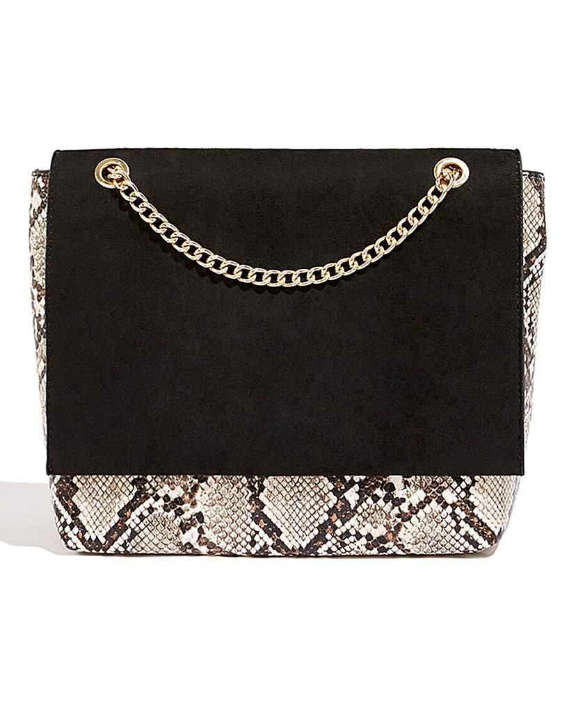 25623137027 Oasis Snake Print Foldover Shoulder Bag
