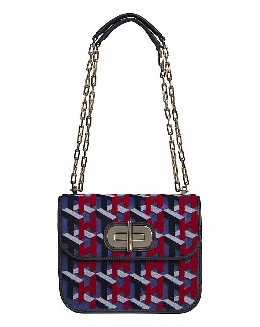 24642858185 Tommy Hilfiger Leather Turnlock Bag