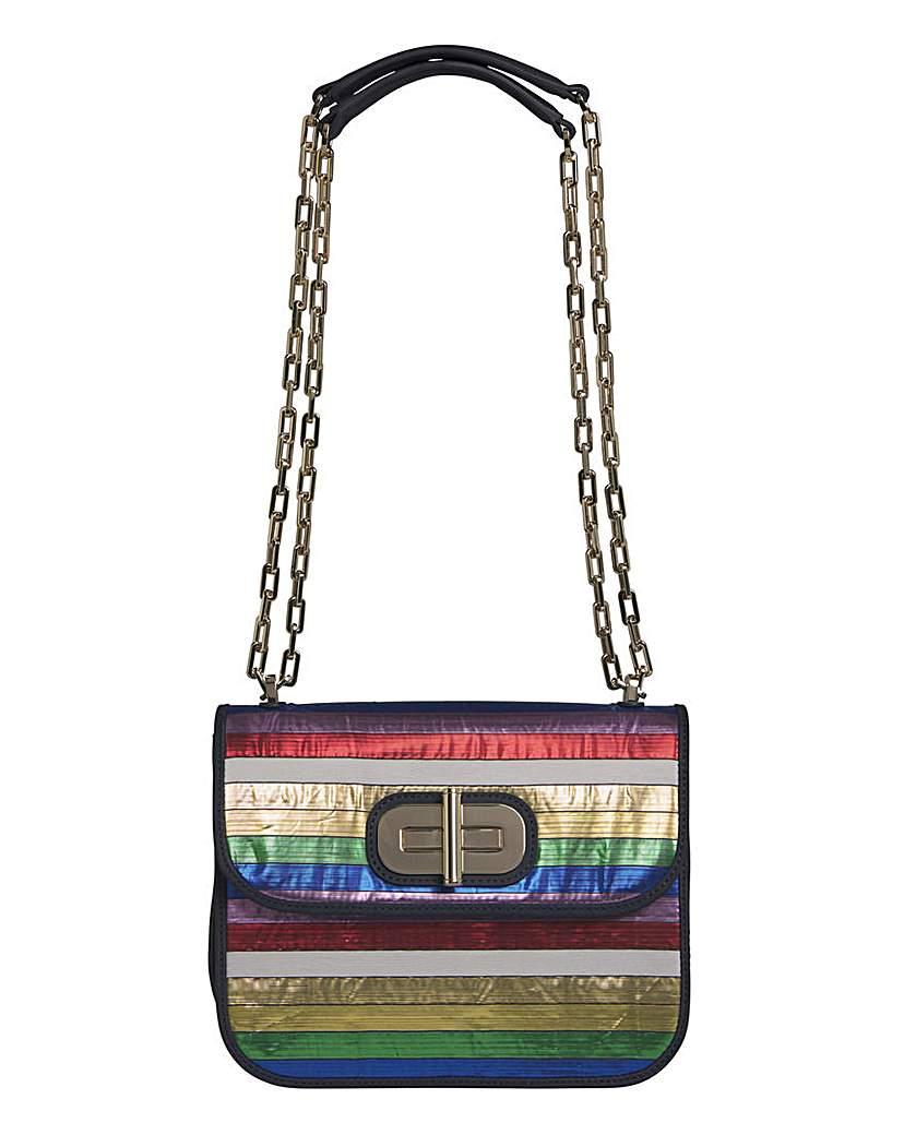 25056458667 Tommy Hilfiger Leather Rainbow Bag