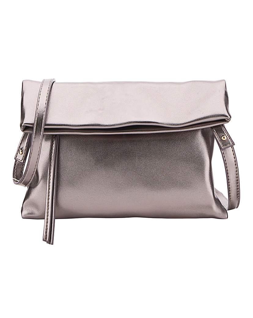 25551332815 Oasis Metallic Foldover Clutch