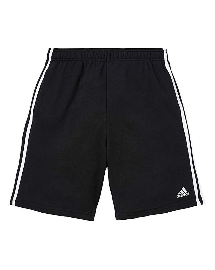adidas Essential 3-Stripe Fleece Shorts