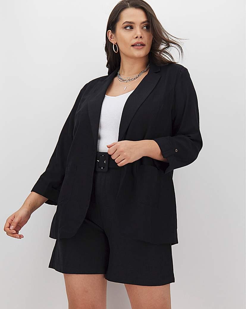 Capsule Black Linen Blazer