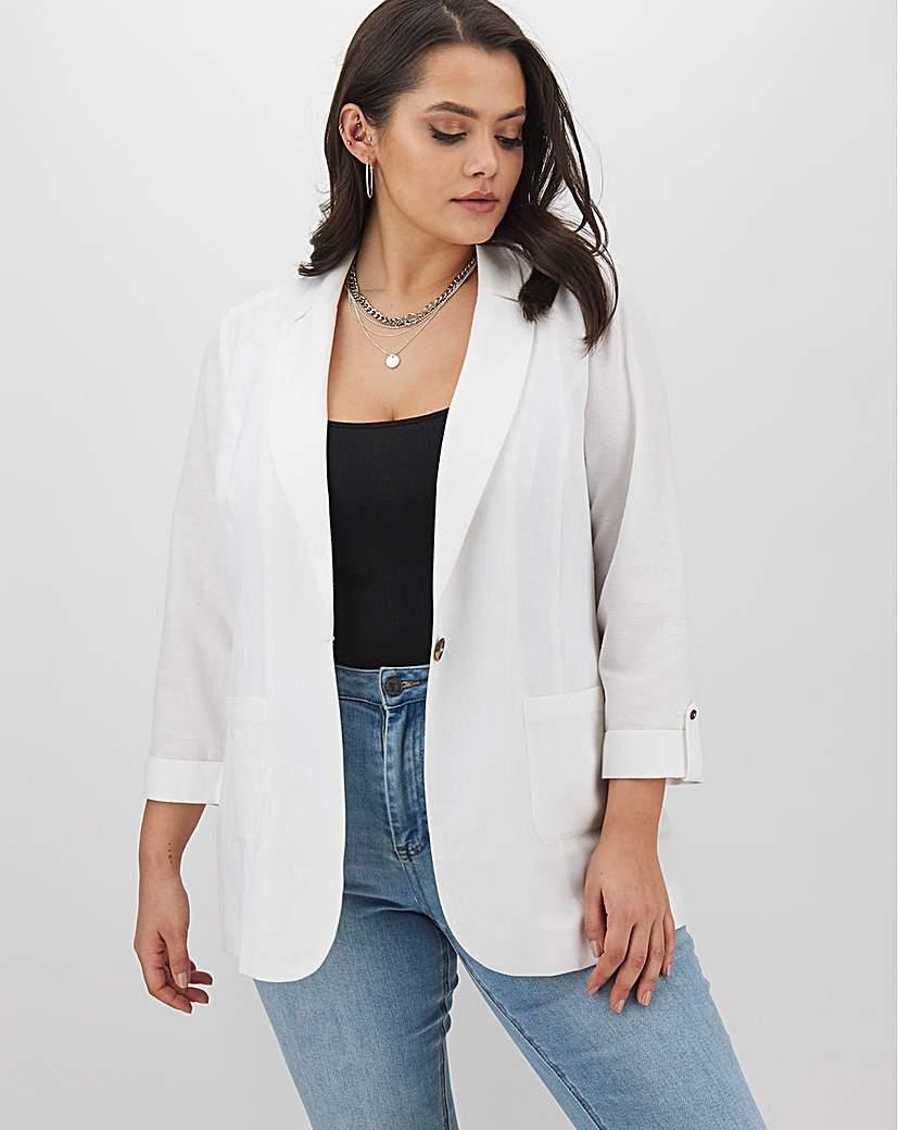 Capsule White Linen Blazer